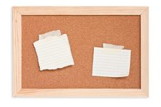 Free Notepad On Cork Board Stock Photo - 17698380