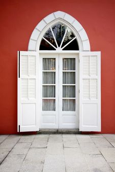 Western And Modern Door Royalty Free Stock Photography