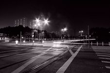 Free Busy Traffic In Hong Kong At Night Royalty Free Stock Images - 17698869