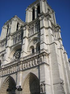 Free Notre-Dame From Corner Stock Photo - 1770300
