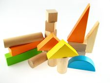 Free Wood Color Toy Blocks Stock Photography - 1771562