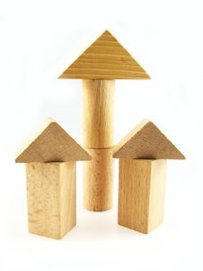 Free Wood Color Toy Blocks Royalty Free Stock Image - 1771596