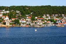 Norwegian Harbour Stock Images