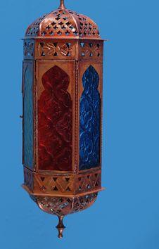 Free Exotic Lamp On Blue Background Stock Image - 1772621