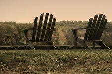Free Aged Adirondack Chairs Royalty Free Stock Photography - 1772827