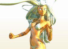 Free Woman Anime 2 Royalty Free Stock Photos - 1774168