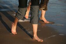 Free Walk Barefoot Royalty Free Stock Image - 1774416