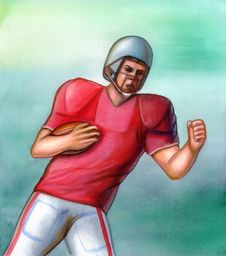 Free American Football Player Stock Image - 1774991