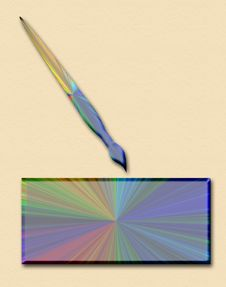 Free Spectrum With Paint Brush Stock Images - 1775314