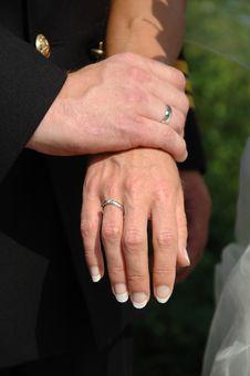 Free Wedding Couple Holding Hands Stock Image - 1775971