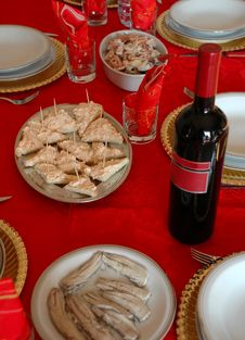Free A Christmas Table Royalty Free Stock Photo - 1777255