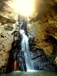 Free Sunburst Over Waterfall Royalty Free Stock Photo - 1777855