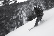 Free Snow Boarder Motion Panning Royalty Free Stock Images - 1777919