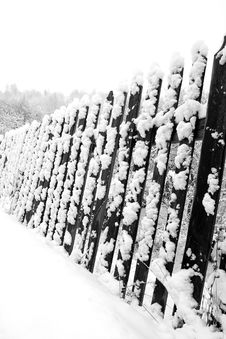 Free Winter Fence Stock Photography - 1778152