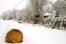 Free Wood Under Snow Stock Photo - 1778170