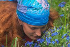 Free Girl In Blue Kerchief Royalty Free Stock Photo - 1778575