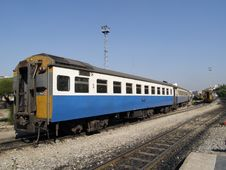 Third Class Railway Car In Thailand Royalty Free Stock Photo