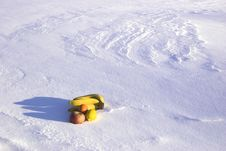 Fruit-piece On The Snowdrift Stock Images