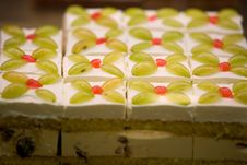 Colorful Fruit Cake Stock Images