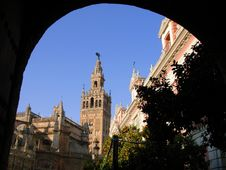 Free Tower Giralda And Cathedral Stock Images - 1779584