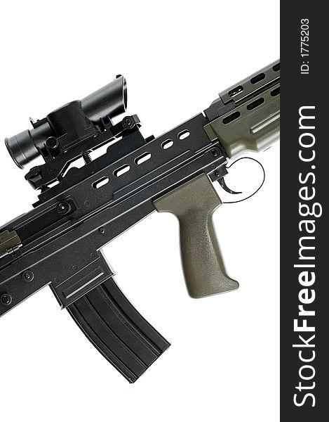 L85 British Assault Rifle (detail) - Free Stock Images