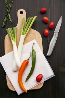 Free Peppers And Leeks Stock Photography - 17700112