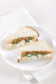Free Vegetarian Sandwiches Royalty Free Stock Photos - 17700148