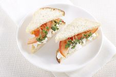 Free Vegetarian Sandwiches Royalty Free Stock Photography - 17700187