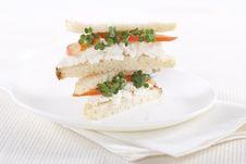 Free Vegetarian Sandwiches Royalty Free Stock Photos - 17700198