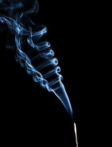 Rising Blue Smoke Royalty Free Stock Image
