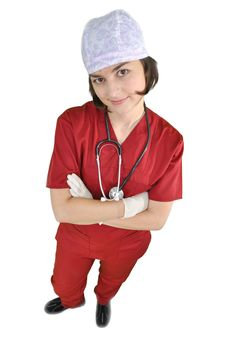 Free Attractive Lady Doctor Stock Photography - 17701252
