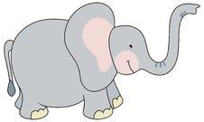 Free Cartoon Style Elephant Illustration Stock Images - 17701644