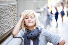 Free Urban Girl Portrait Stock Photography - 17702252