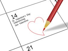 Free Valentine S Day Calendar Royalty Free Stock Photo - 17702295