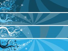 Free Abstract Winter Theme Banners Stock Photography - 17702942