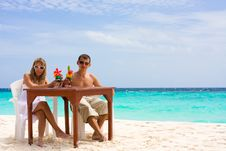 Free Cocktails At The Beach Royalty Free Stock Image - 17703356