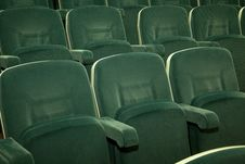 Free Empty Green Seats Stock Images - 17703464