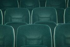 Free Empty Green Seats Stock Photography - 17703542