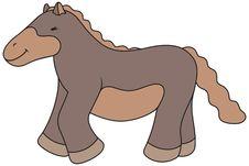 Free Vector Cartoon Horse Illustration Royalty Free Stock Photo - 17703565