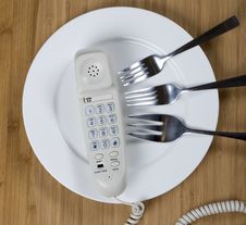Free Phone On The Plate Stock Photo - 17704600