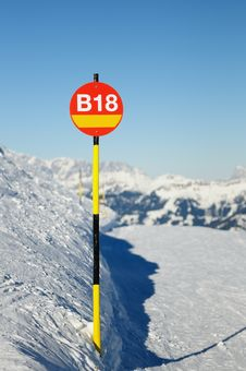 Free Route Index On Red Sign In Mountains Stock Photo - 17705140