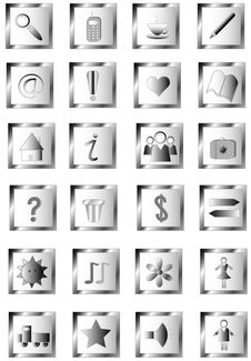 Free Set Symbols Stock Photos - 17705803