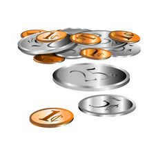 Loose Coins Royalty Free Stock Photo