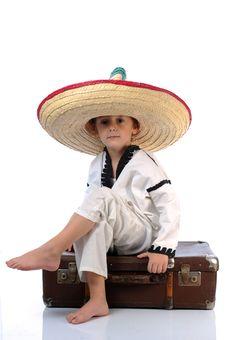 Boy With  Sombrero Stock Image