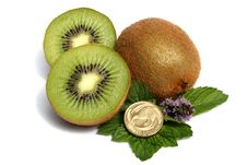 Kiwi Fruit And Kiwi Dollar Royalty Free Stock Photos