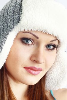 Free Beautiful Girl In Hat Royalty Free Stock Images - 17708369
