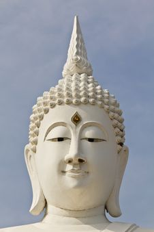 Free White Face Buddha Image Stock Photography - 17708872