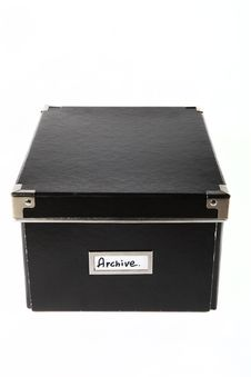 Free Black Archive Box Stock Photos - 17709183