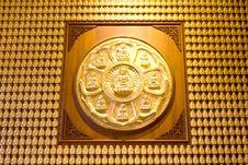 Free Million Of Golden Buddha Statue Royalty Free Stock Photos - 17709248