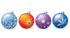 Free Christmas Balls. Royalty Free Stock Images - 17709589
